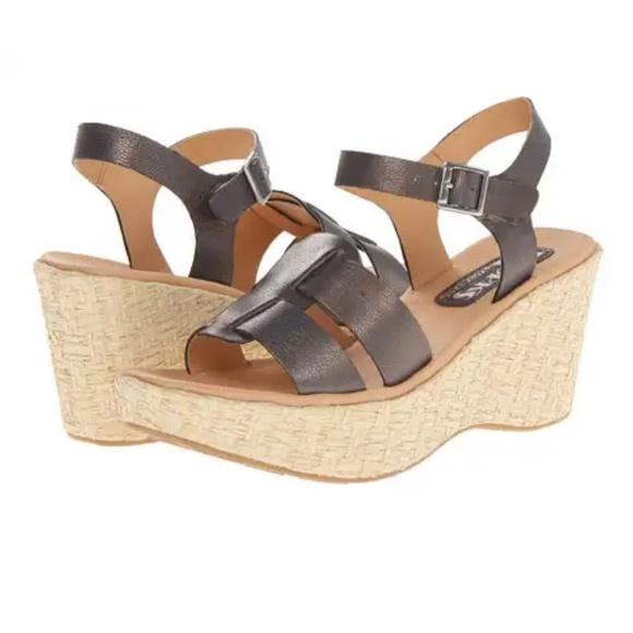99e80abbb3d Kork-Ease Shoes - Korks by Kork-Ease Brie Metallic Wedge Sandals